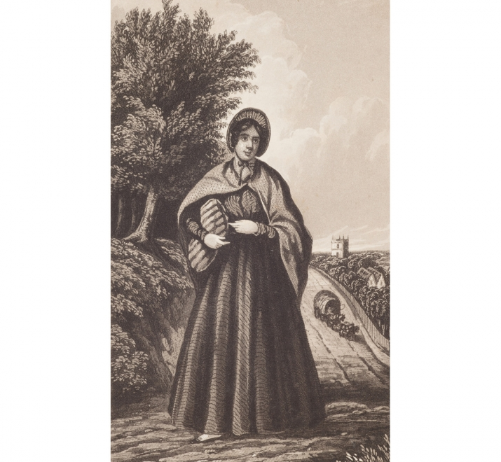 Engraving of Margaret Catchpole, 1845