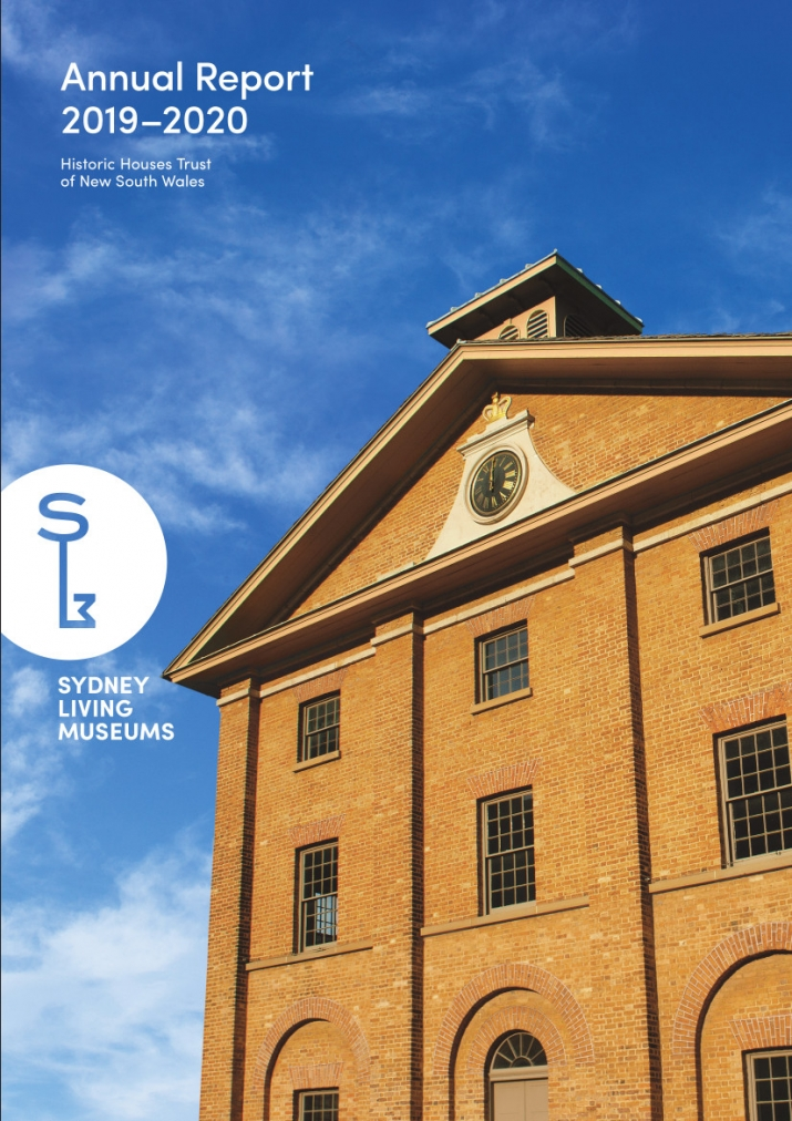 Cover image of brick building (Hyde Park Barracks) with blue sky behind.