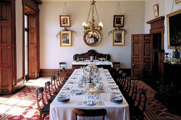The dining room in Elizabeth Bay House