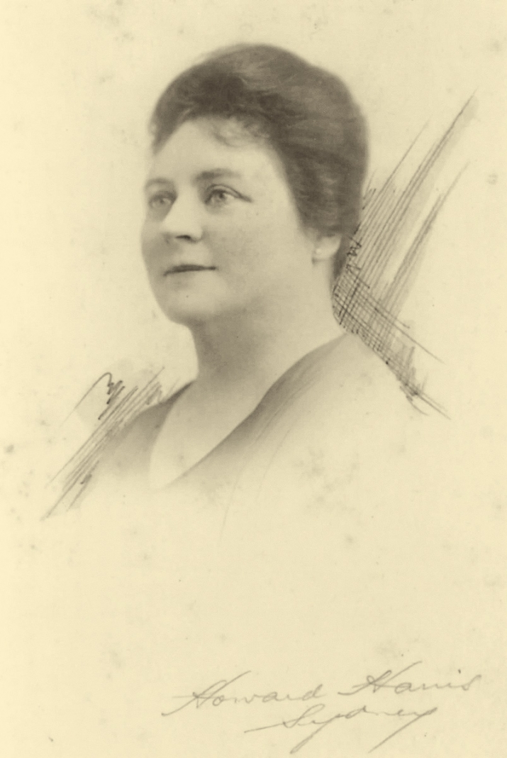 Faded photo of woman.