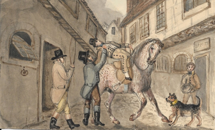 Margaret taken into custody in the act of selling the horse