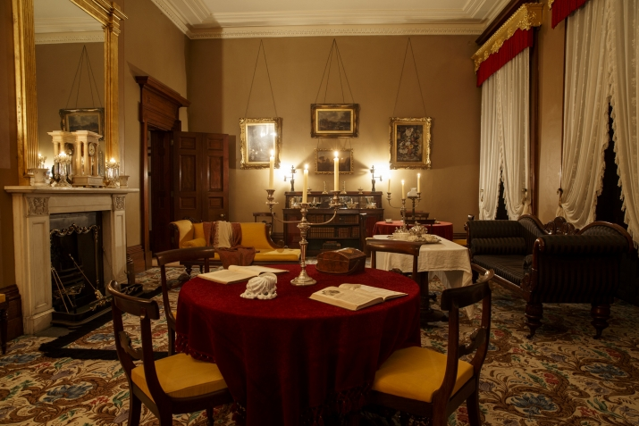 The drawing room at Elizabeth Bay House.