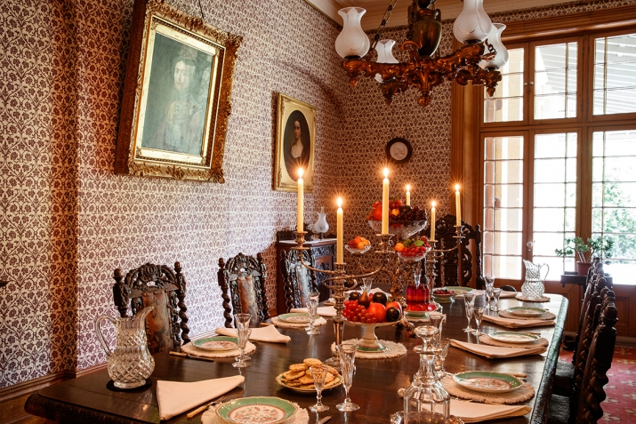 The Dining table at Vaucluse House