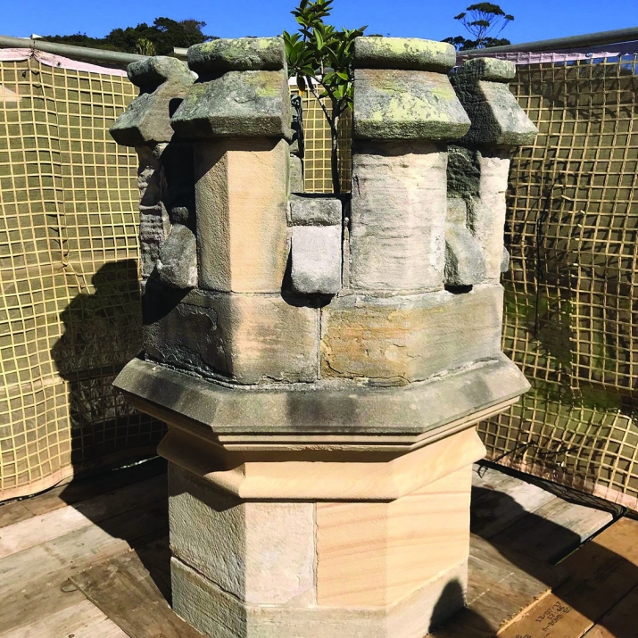 Old worn turret before removal.