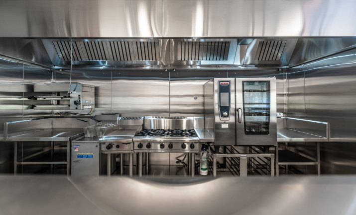 Commercial kitchen at Vaucluse House Tearooms