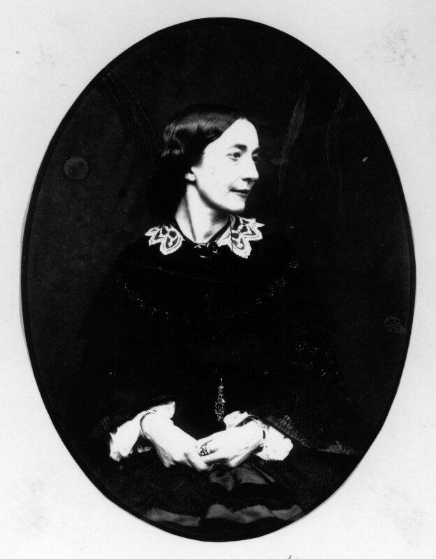 Black and white photograph of woman