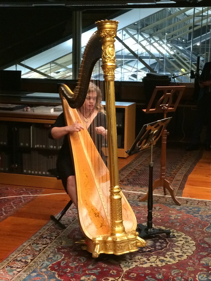 Harp of Gold event in the Caroline Simpson Library