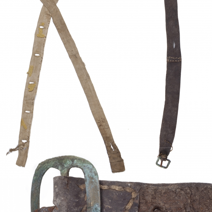 Composite image of braces and belt