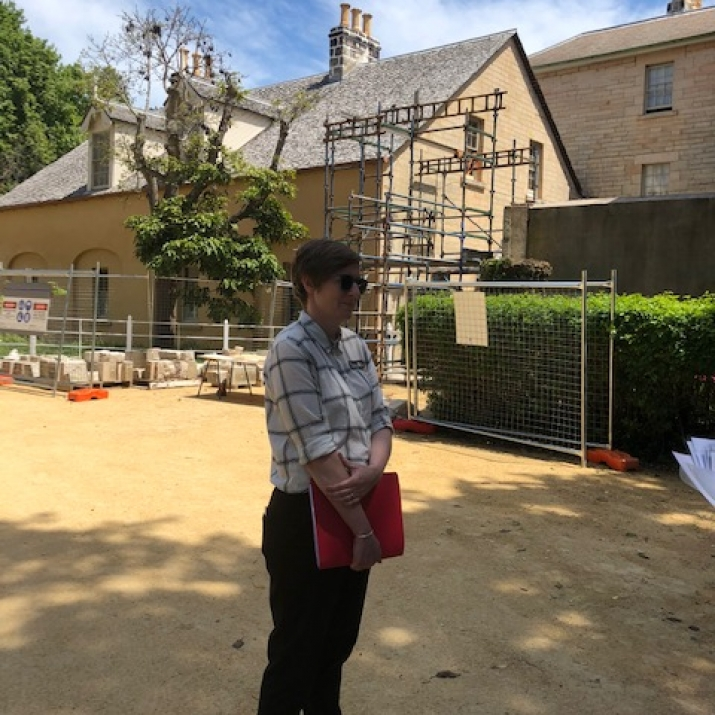Assistant Curator, House Museums Portfolio East, Melissa Flyte outside Vaucluse House