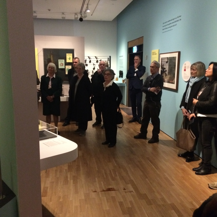 Group visiting exhibition space.