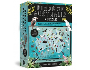 Puzzle box featuring map of Australia and birds