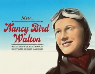 Book cover with illustration of woman in flying gear.