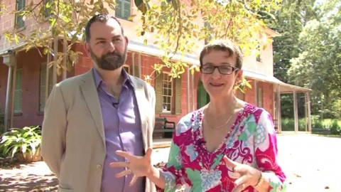 Cook and the curator at Rouse Hill House and Farm
