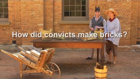 How did convicts make bricks?