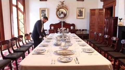 Setting the table at Elizabeth Bay House