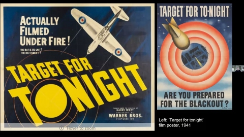 History Reflected - Behind closed doors: Target for Tonight poster with Michael Lech